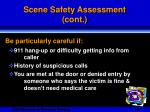 scene safety assessment cont