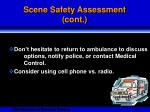 scene safety assessment cont11