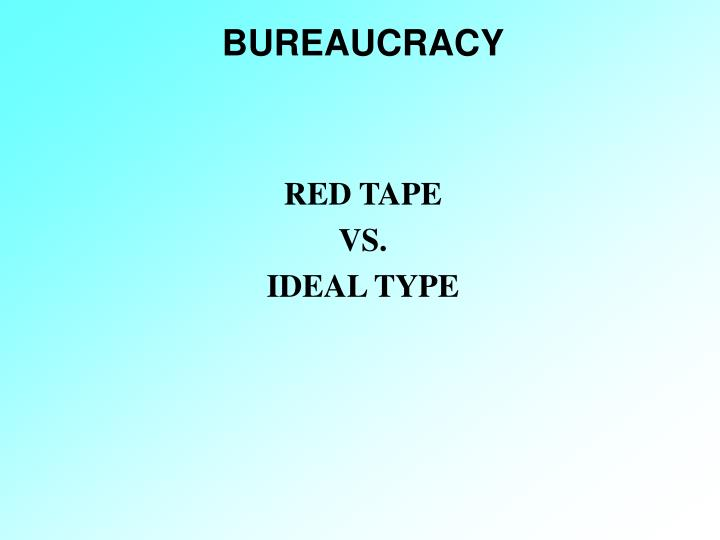 bureaucracy n.