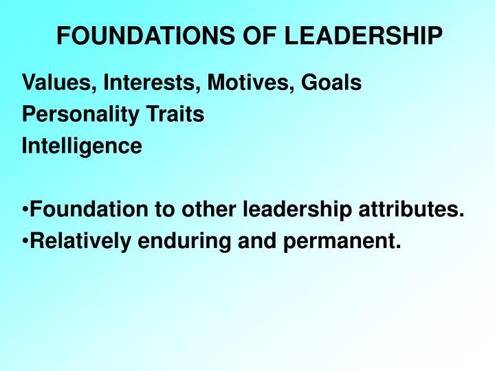 FOUNDATIONS OF LEADERSHIP