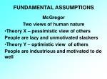 fundamental assumptions