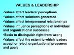 values leadership