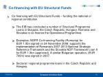 co financing with eu structural funds
