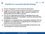 priorities for a successful danube strategy