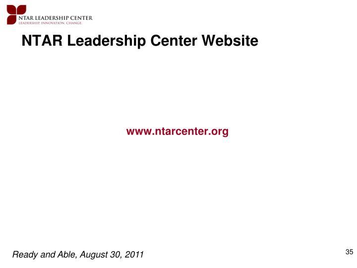 NTAR Leadership Center Website