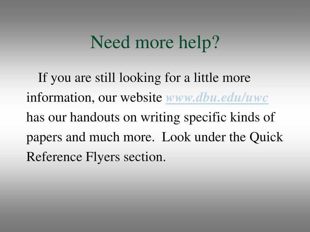 Need more help?