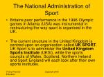 the national administration of sport