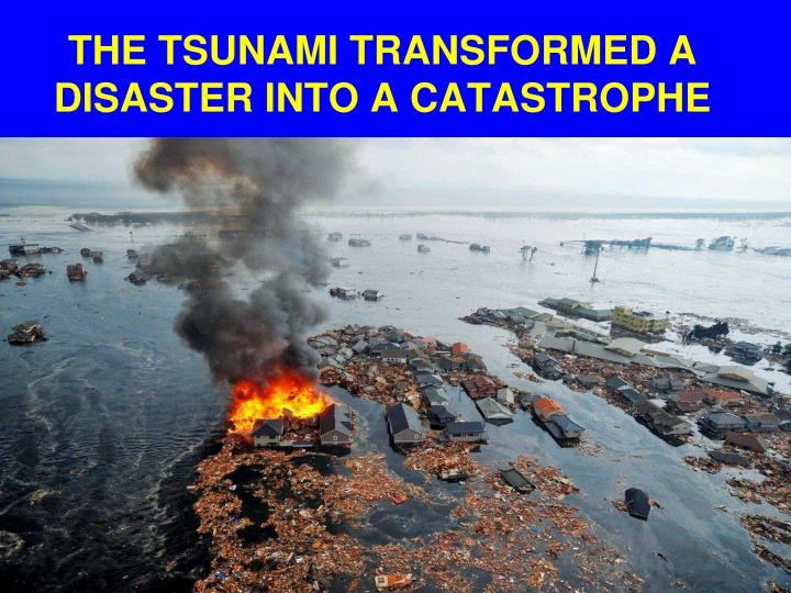 THE TSUNAMI TRANSFORMED A DISASTER INTO A CATASTROPHE