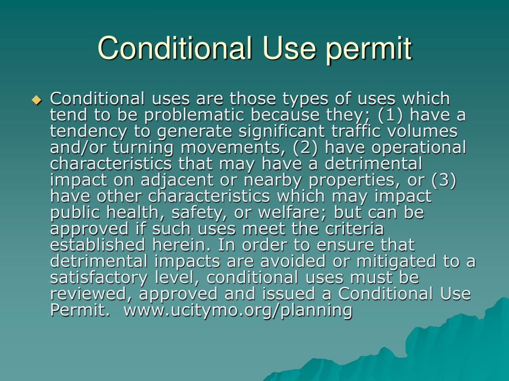 Conditional Use permit
