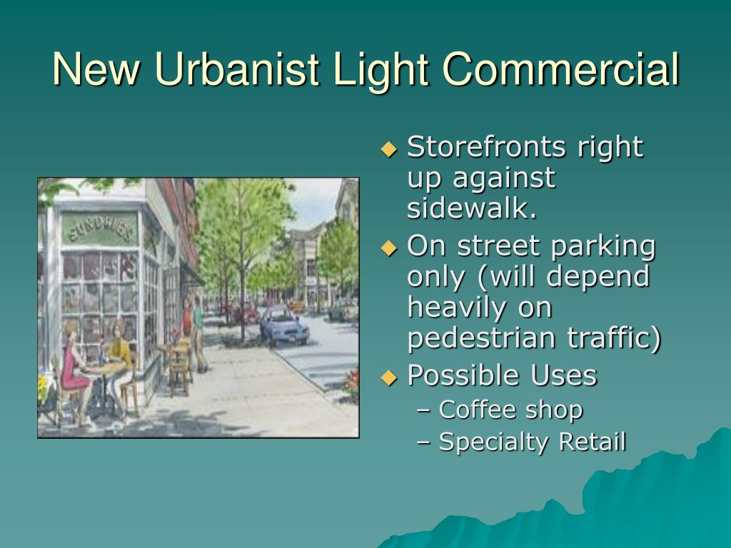 New Urbanist Light Commercial