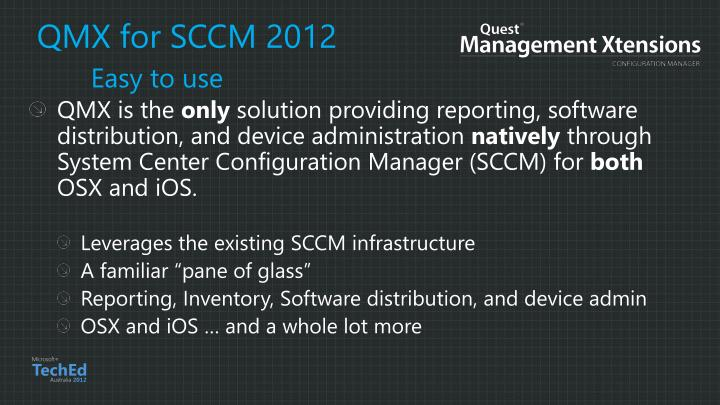 QMX for SCCM 2012