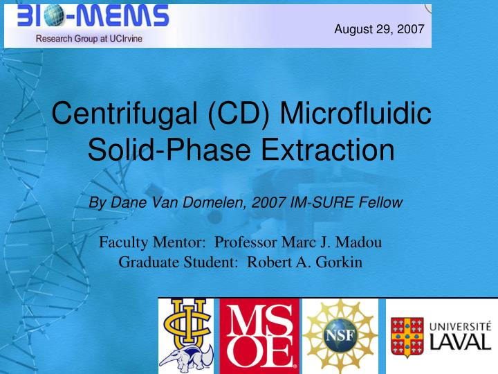 centrifugal cd microfluidic solid phase extraction n.