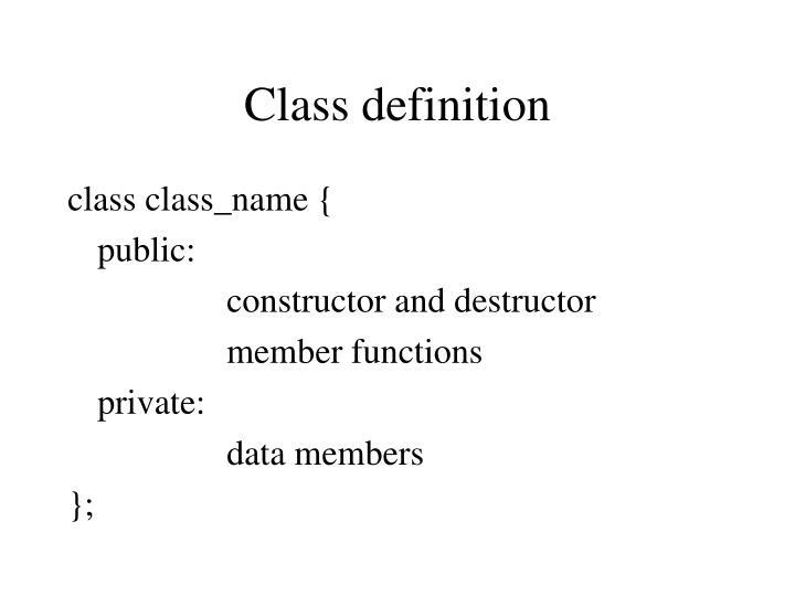 Class definition