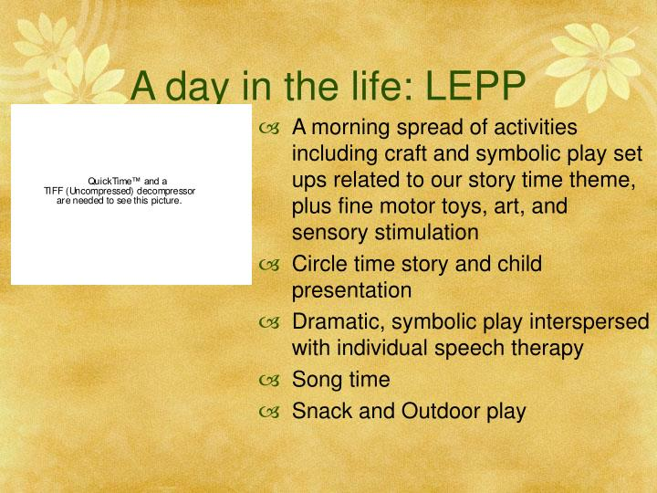 A day in the life: LEPP