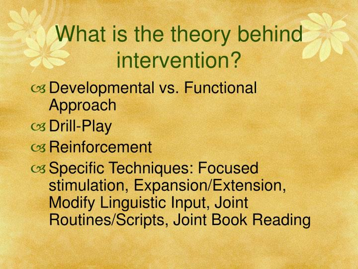 What is the theory behind intervention?