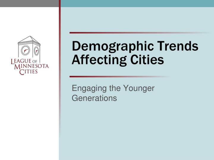 the general environment includes demographic trends Macro environment analysis how to an aging population is a demographic or social trend in many western counties but also includes trends in court decisions.
