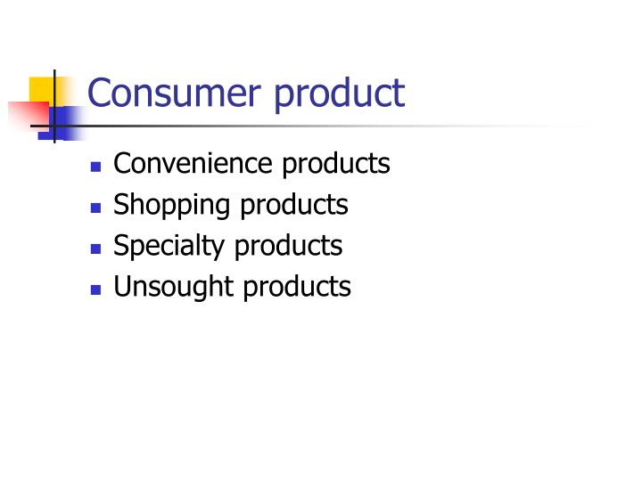 Consumer product
