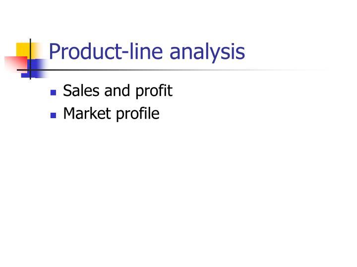 Product-line analysis