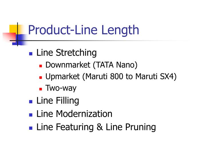 Product-Line Length