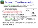 timestamp cc and recoverability