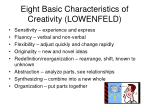 eight basic characteristics of creativity lowenfeld