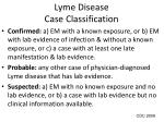 lyme disease case classification