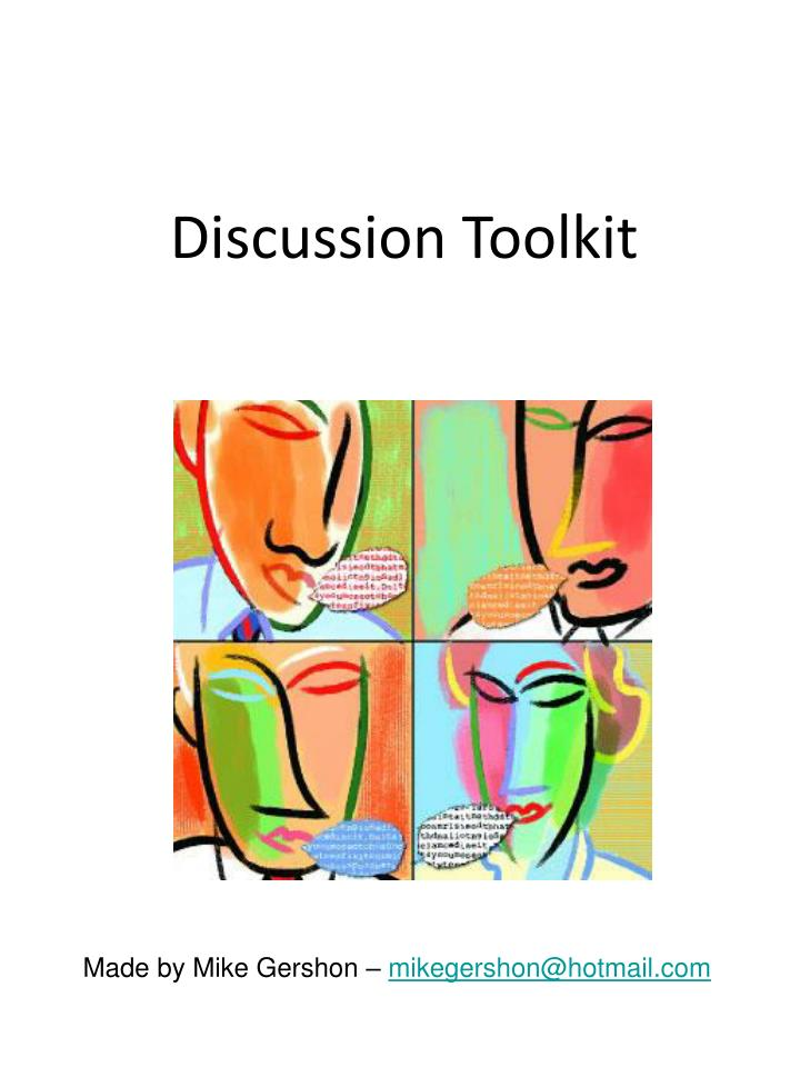discussion toolkit n.