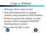 coop vs national