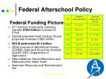 federal afterschool policy