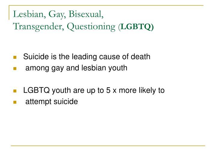 Lesbian, Gay, Bisexual,