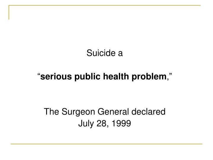 Suicide a