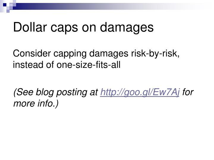 Dollar caps on damages