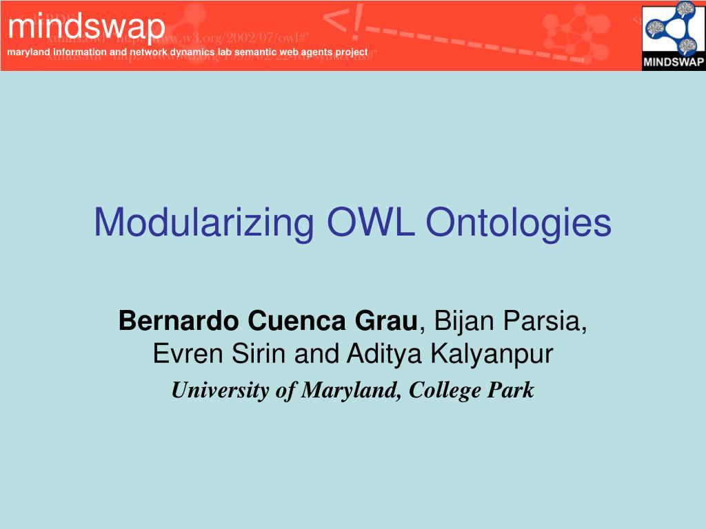 modularizing owl ontologies l.