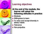learning objectives12