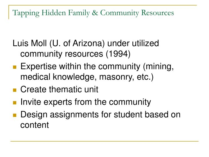 Tapping Hidden Family & Community Resources