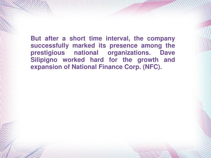 But after a short time interval, the company successfully marked its presence among the prestigious ...