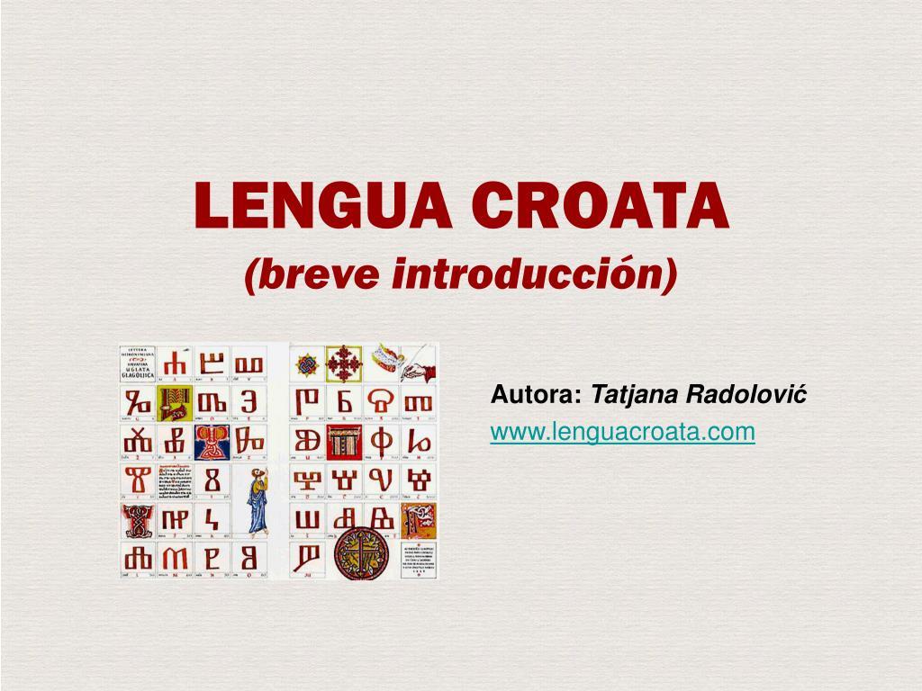 lengua croata breve introducci n l.