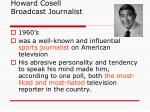 howard cosell broadcast journalist