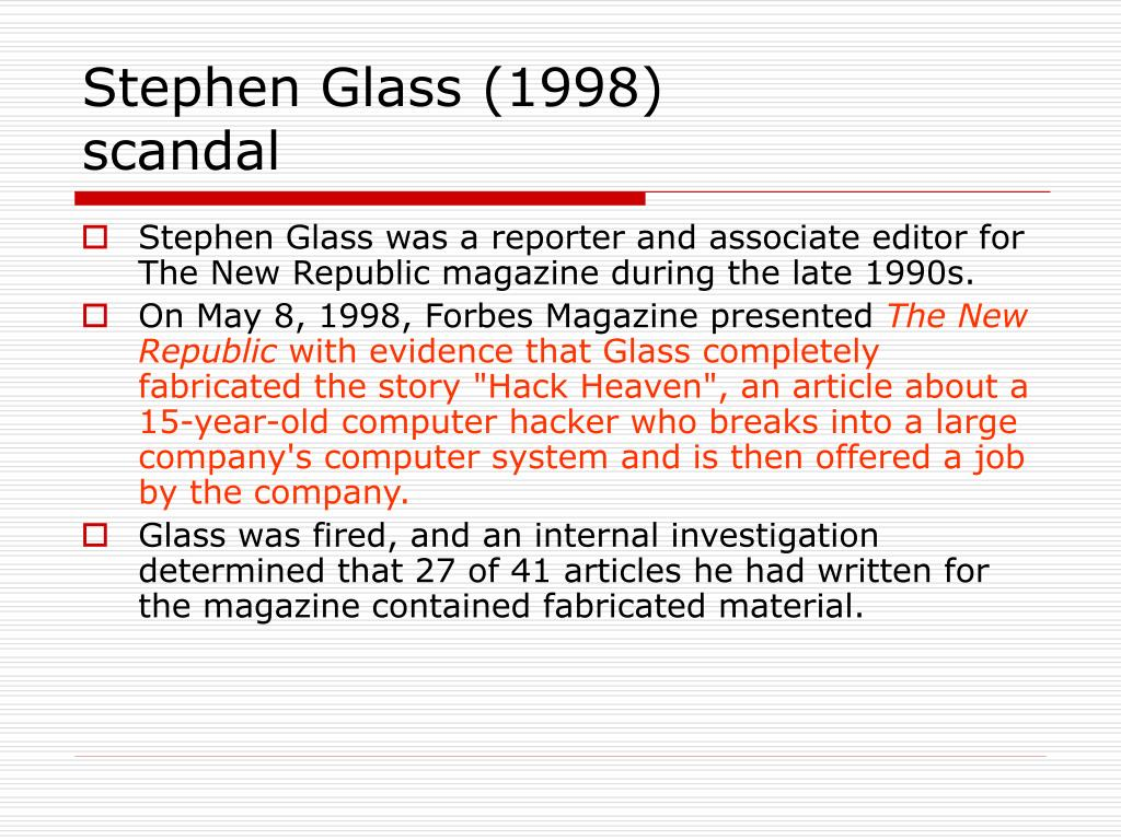 Stephen Glass (1998)