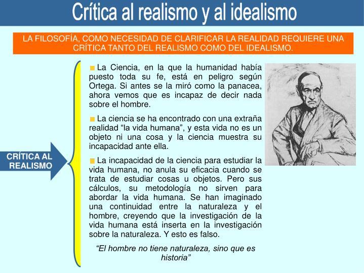 Crítica al realismo y al idealismo
