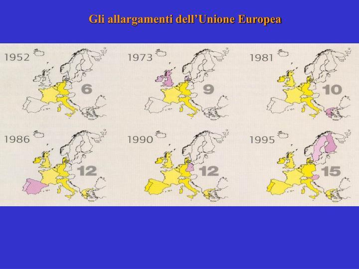 Gli allargamenti dell'Unione Europea