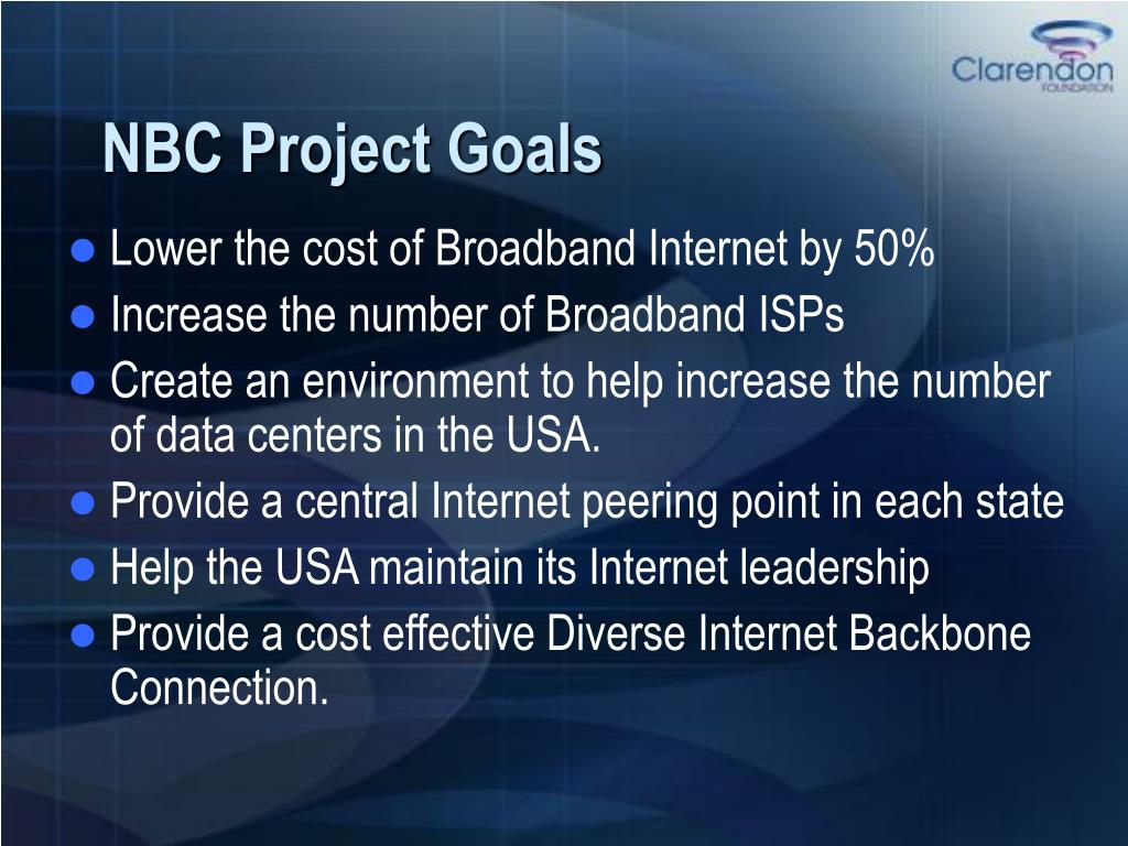 NBC Project Goals
