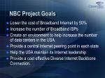nbc project goals