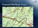 proposed fiber route phase 1