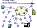 committed updates multicast dissemination