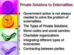 private solutions to externalities