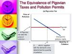the equivalence of pigovian taxes and pollution permits