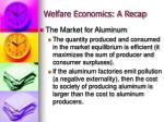 welfare economics a recap