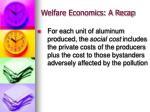 welfare economics a recap8