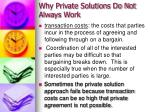 why private solutions do not always work